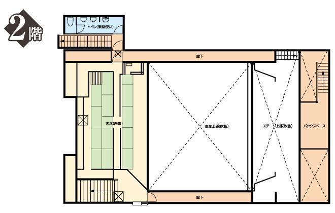 大須演芸場2階平面図